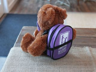 Wilbert Foundation Bertie Bear backpack